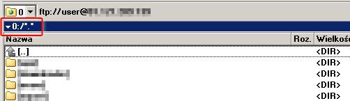 Zalogowany użytkownik nie będzie widział pełnej ścieżki swojego katalogu domowego